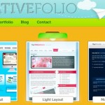 Vibrant Portfolio Web Page Design in Photoshop