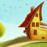 "Painting ""The Imaginary House"" in Adobe Photoshop"