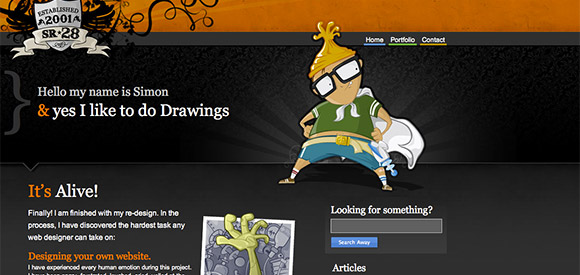 Collection of Web Designs With Super Cool Mascots