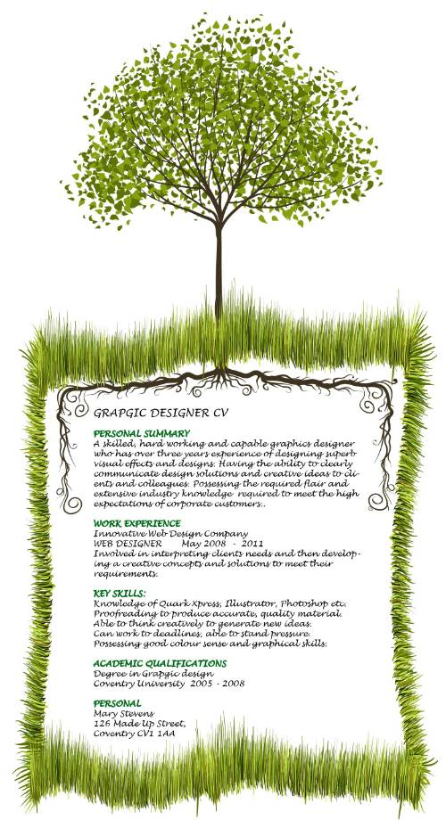 Examples of Creative Graphic Design Resumes Infographics 2012
